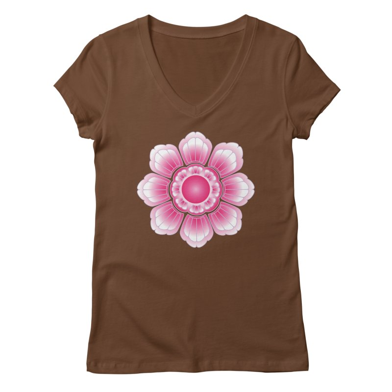 Khmer Lotus Women's Regular V-Neck by Peregrinus Creative