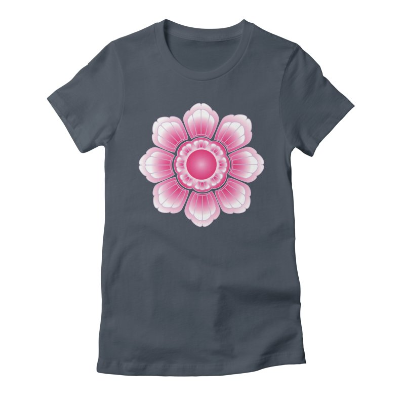 Khmer Lotus Women's Fitted T-Shirt by Peregrinus Creative