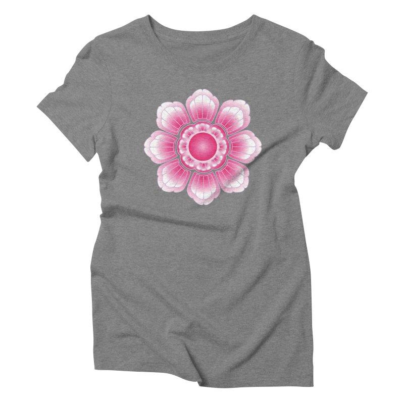 Khmer Lotus Women's Triblend T-Shirt by Peregrinus Creative