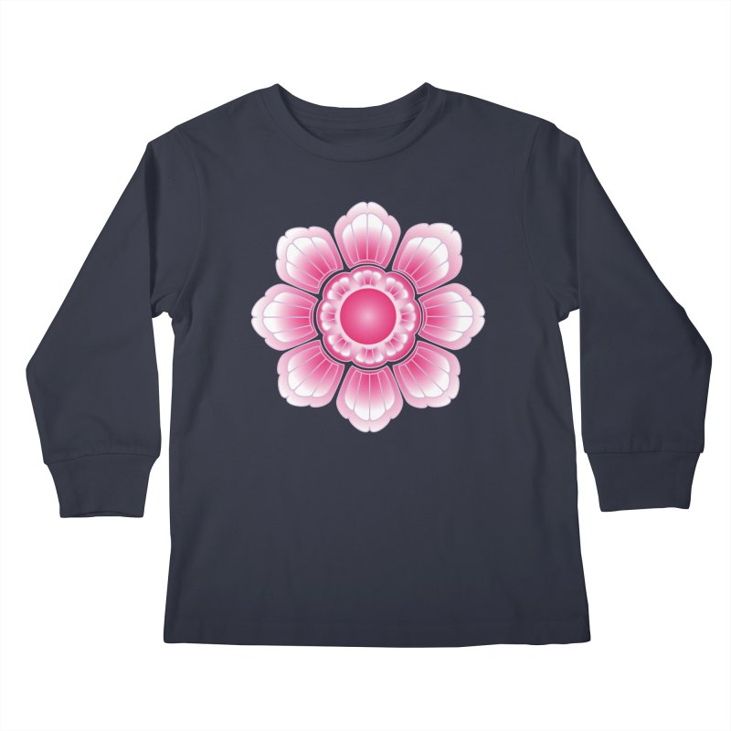 Khmer Lotus Kids Longsleeve T-Shirt by Peregrinus Creative