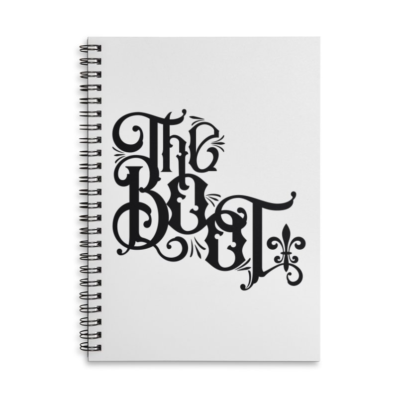 The Boot Accessories Lined Spiral Notebook by Peregrinus Creative
