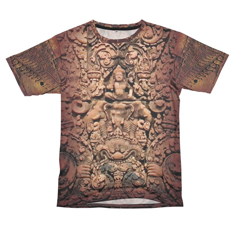 Khmer Warrior rebirth Women's Unisex French Terry T-Shirt Cut & Sew by Peregrinus Creative