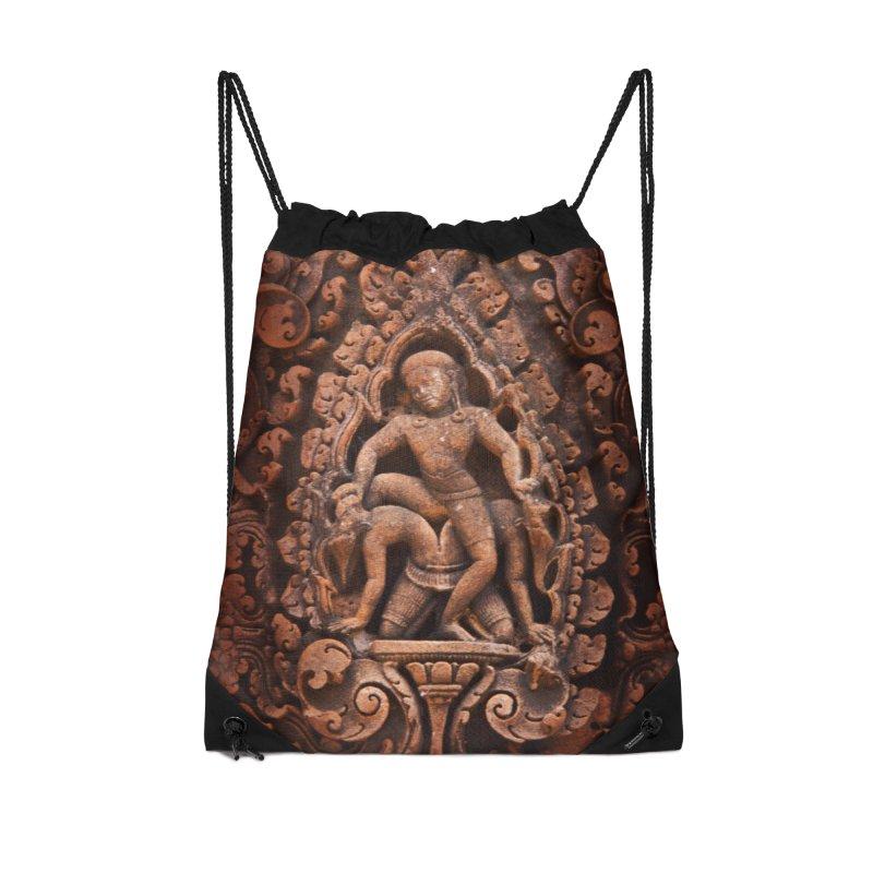 Khmer Warrior rebirth Accessories Drawstring Bag Bag by Peregrinus Creative