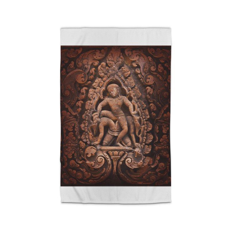 Khmer Warrior rebirth Home Rug by Peregrinus Creative