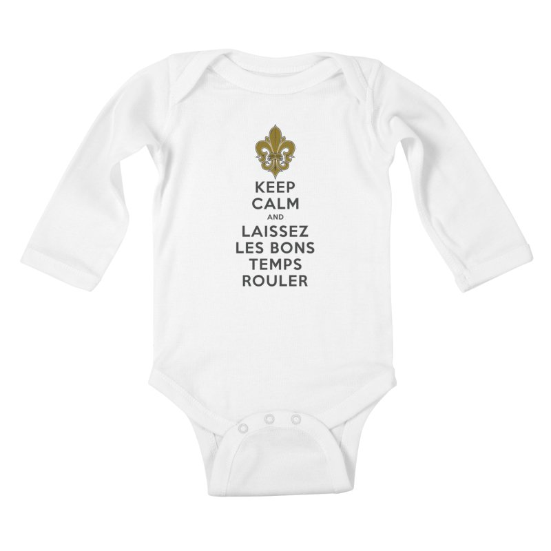 WHO DATs need to KEEP CALM Kids Baby Longsleeve Bodysuit by Peregrinus Creative