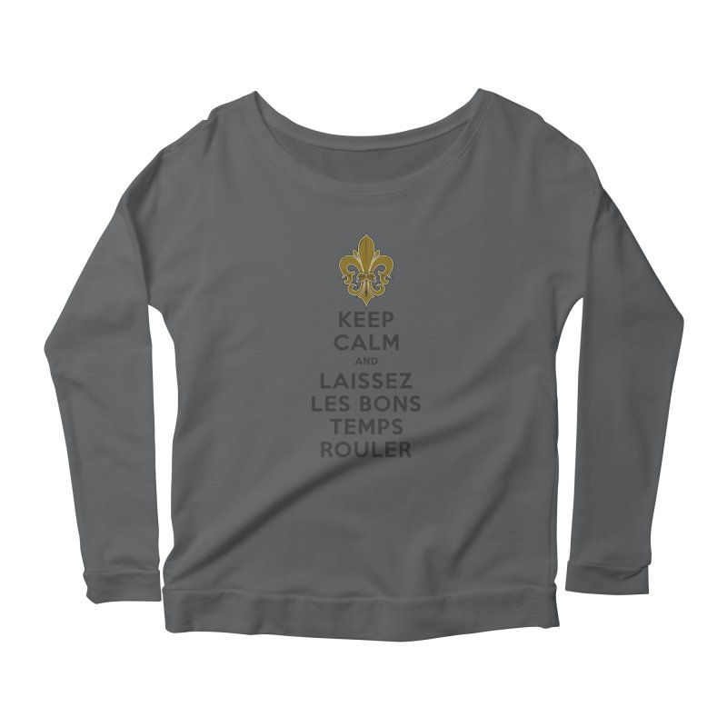 WHO DATs need to KEEP CALM Women's Scoop Neck Longsleeve T-Shirt by Peregrinus Creative