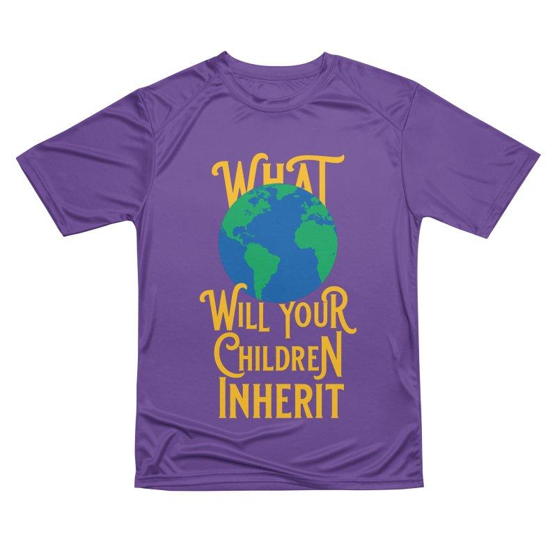 What World will Your Children Inherit Men's Performance T-Shirt by Peregrinus Creative