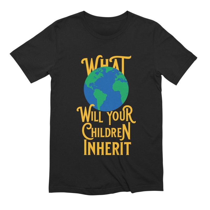 What World will Your Children Inherit Men's Extra Soft T-Shirt by Peregrinus Creative