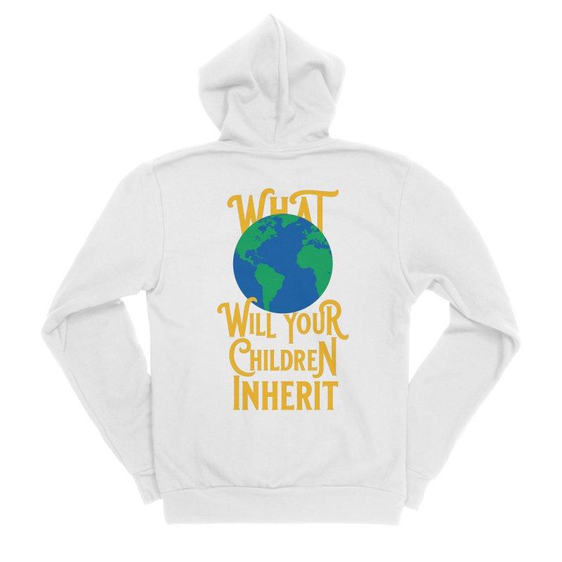 What World will Your Children Inherit Men's Sponge Fleece Zip-Up Hoody by Peregrinus Creative