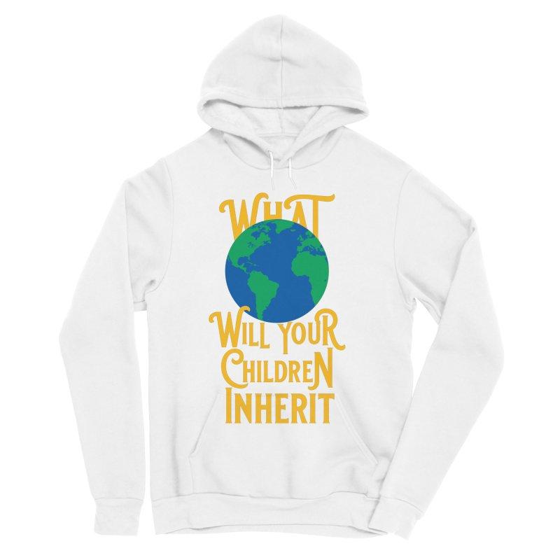 What World will Your Children Inherit Men's Sponge Fleece Pullover Hoody by Peregrinus Creative