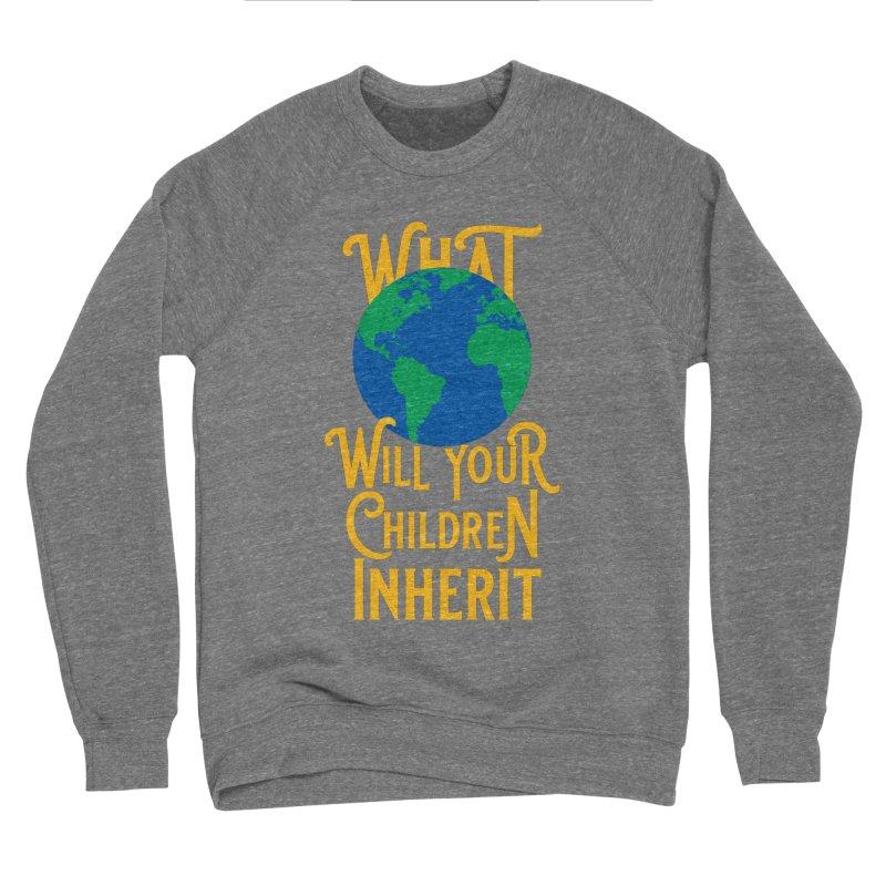 What World will Your Children Inherit Men's Sponge Fleece Sweatshirt by Peregrinus Creative