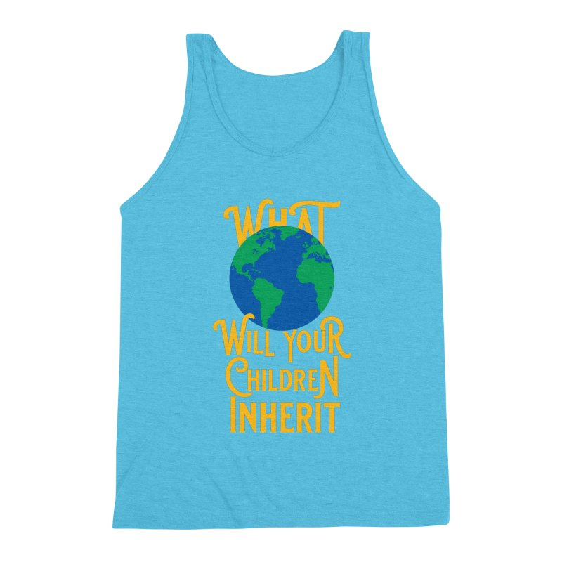 What World will Your Children Inherit Men's Triblend Tank by Peregrinus Creative