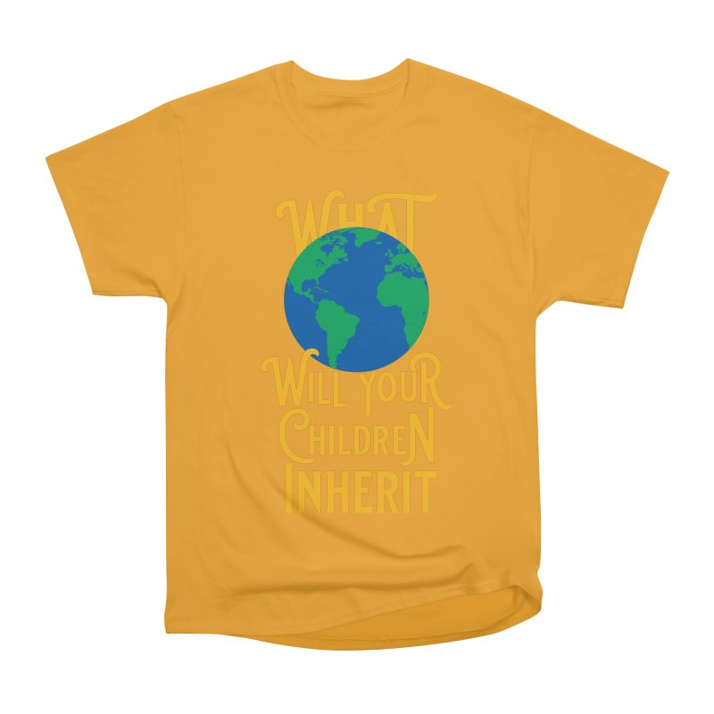 What World will Your Children Inherit Men's Heavyweight T-Shirt by Peregrinus Creative