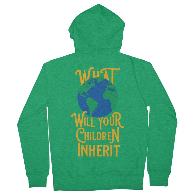 What World will Your Children Inherit Men's French Terry Zip-Up Hoody by Peregrinus Creative