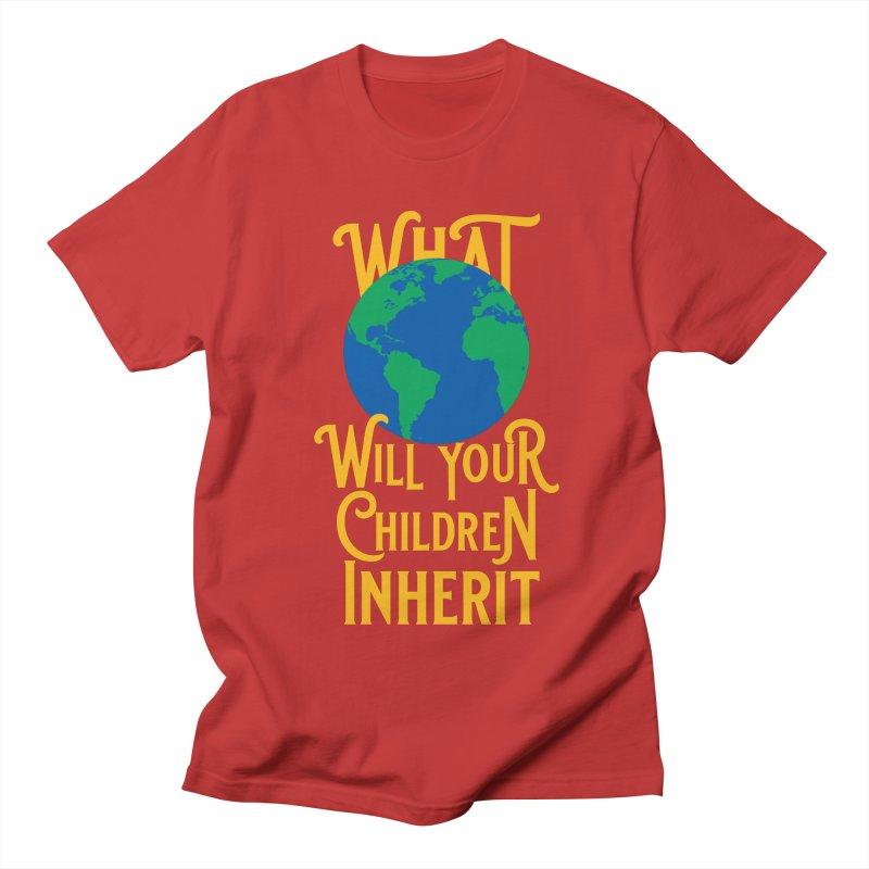 What World will Your Children Inherit Men's Regular T-Shirt by Peregrinus Creative
