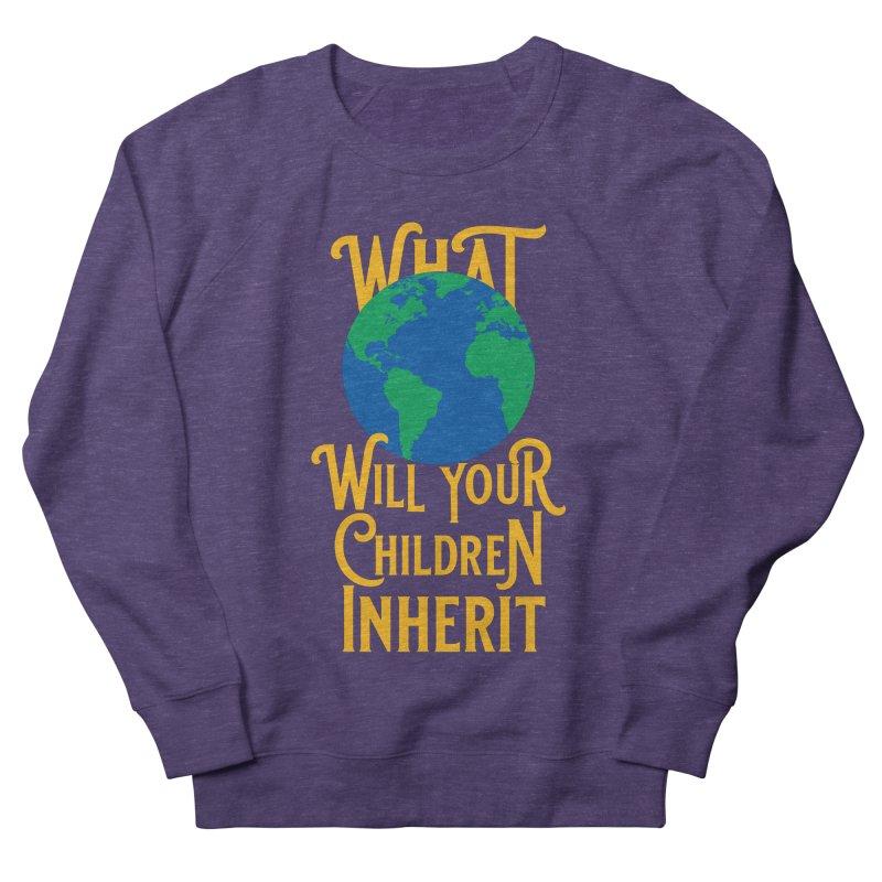 What World will Your Children Inherit Men's French Terry Sweatshirt by Peregrinus Creative