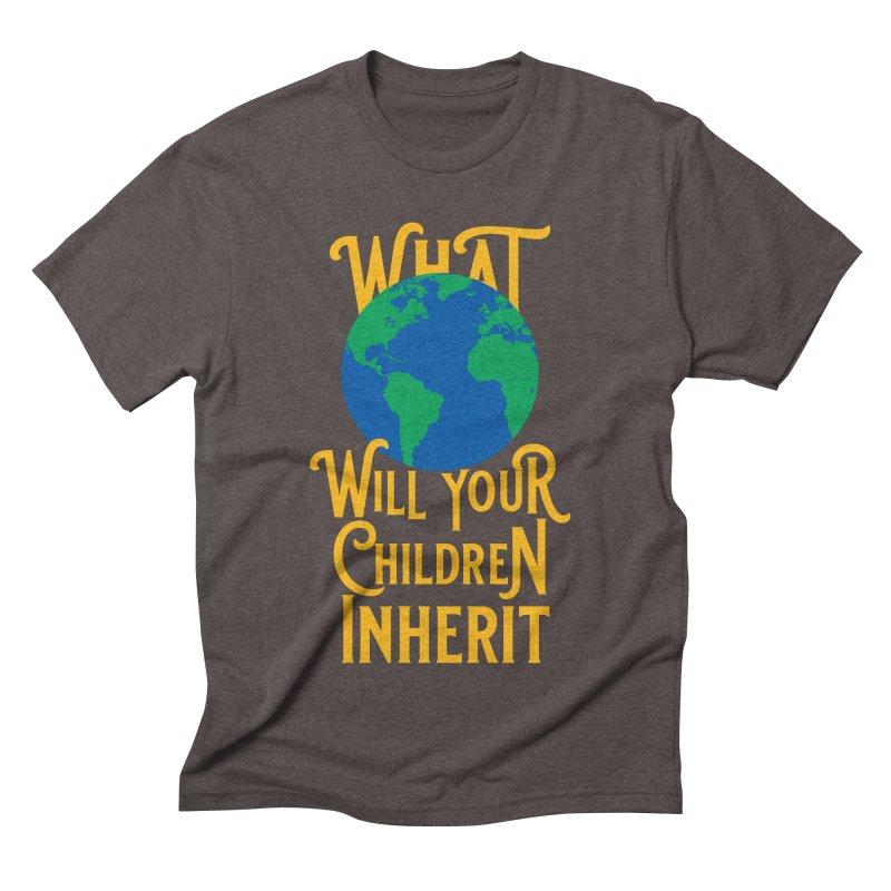 What World will Your Children Inherit Men's Triblend T-Shirt by Peregrinus Creative