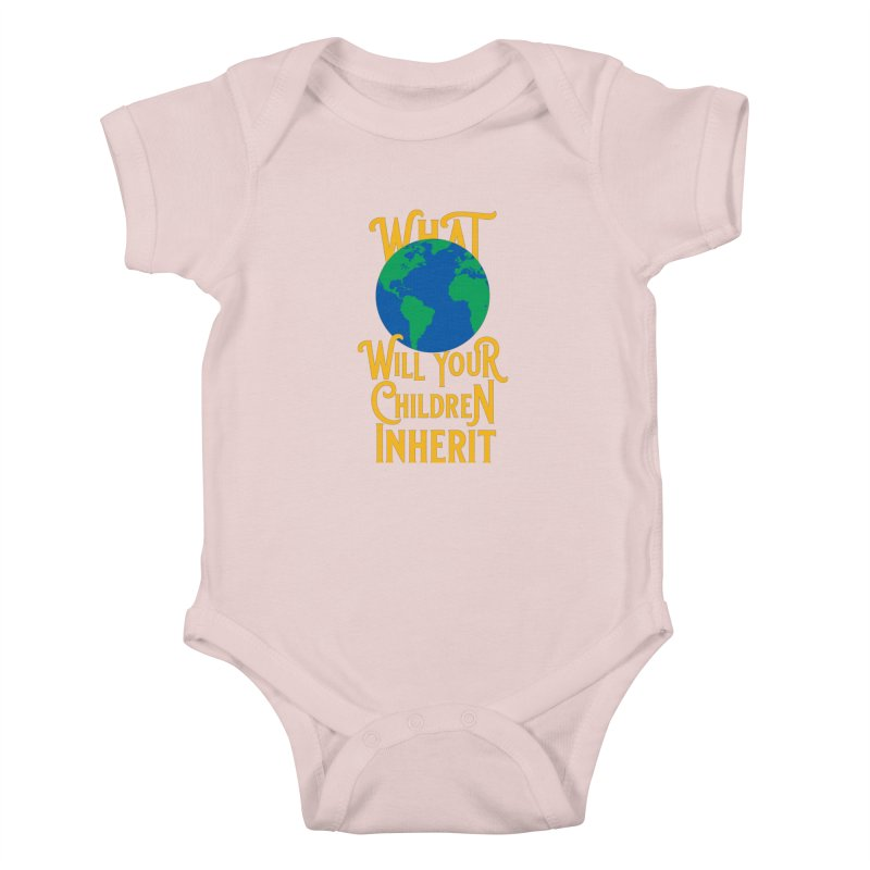 What World will Your Children Inherit Kids Baby Bodysuit by Peregrinus Creative
