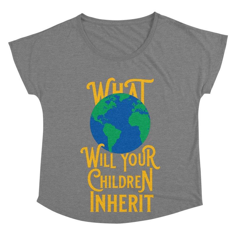 What World will Your Children Inherit Women's Scoop Neck by Peregrinus Creative