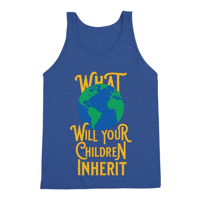 What World will Your Children Inherit Men's Triblend Tank by Peregrinus Creative