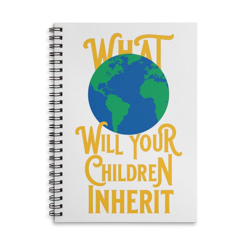 What World will Your Children Inherit Accessories Lined Spiral Notebook by Peregrinus Creative