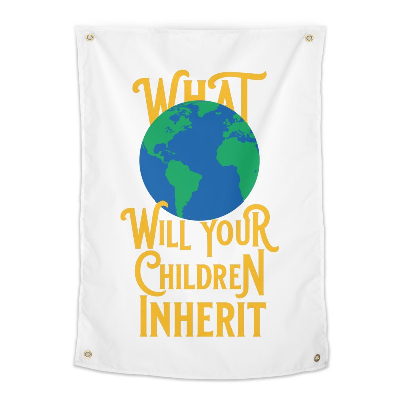 What World will Your Children Inherit Home Tapestry by Peregrinus Creative