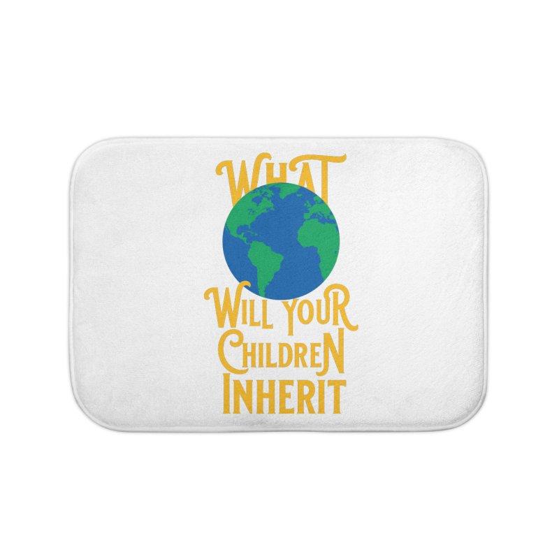 What World will Your Children Inherit Home Bath Mat by Peregrinus Creative