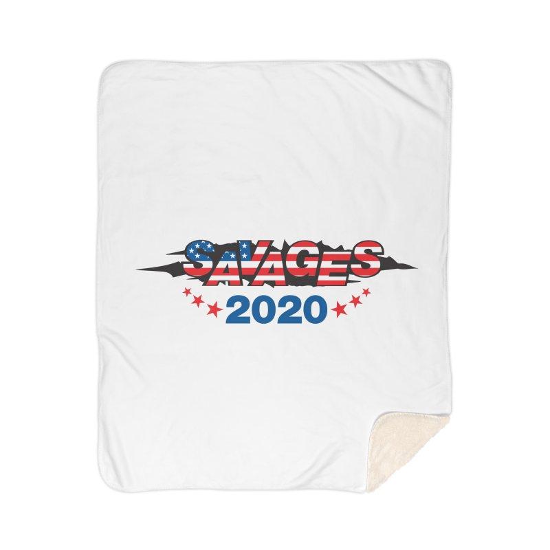 SAVAGES 2020 Home Sherpa Blanket Blanket by Peregrinus Creative
