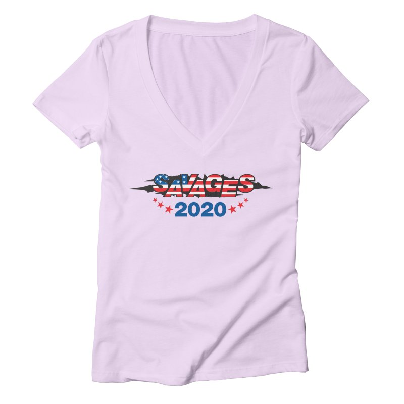 SAVAGES 2020 Women's Deep V-Neck V-Neck by Peregrinus Creative