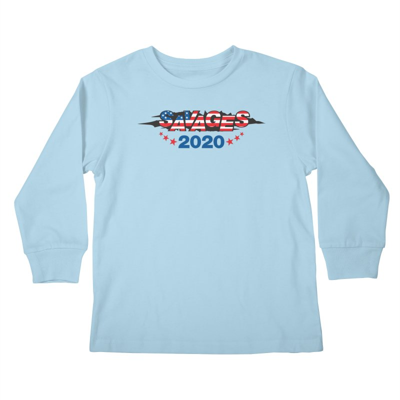 SAVAGES 2020 Kids Longsleeve T-Shirt by Peregrinus Creative