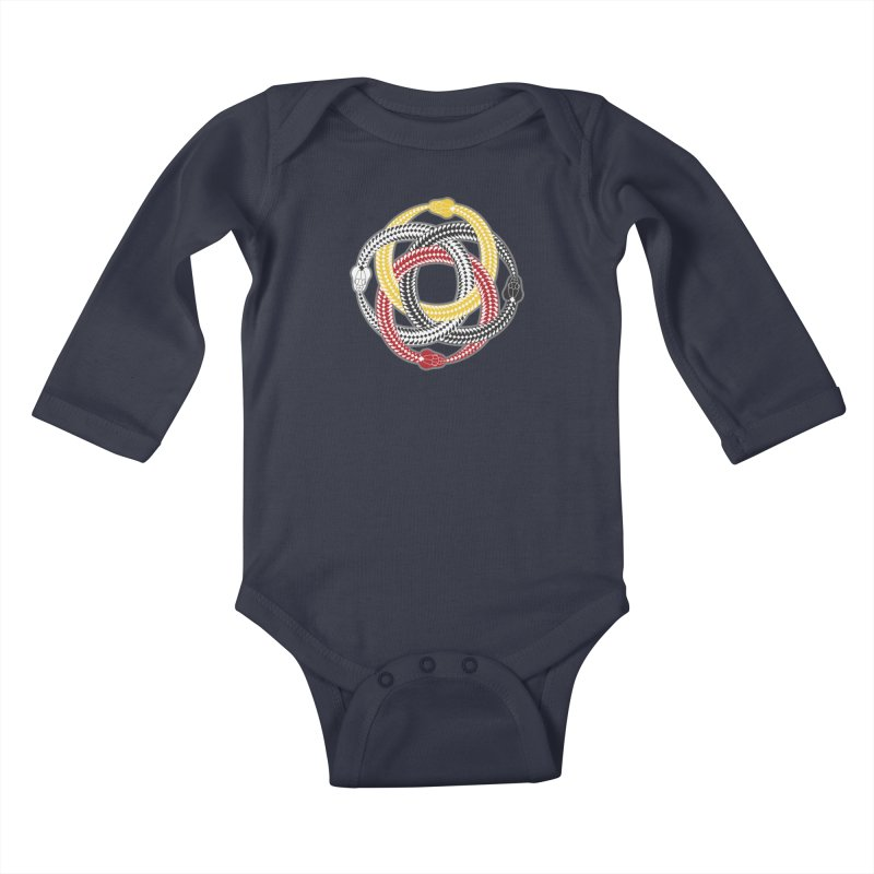 Unity Ouroboros Kids Baby Longsleeve Bodysuit by Peregrinus Creative