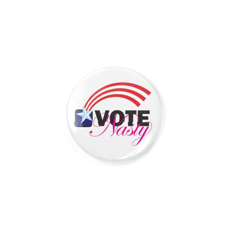 Star Spangled right to VOTE Nasty Accessories Button by Peregrinus Creative