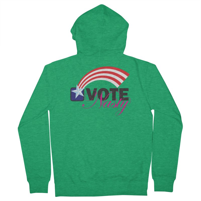 Star Spangled right to VOTE Nasty Women's Zip-Up Hoody by Peregrinus Creative
