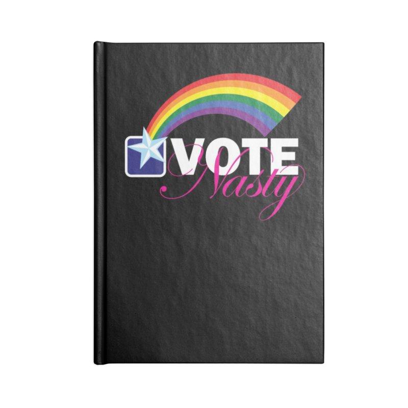 VOTE Nasty LGBTQ reversed Accessories Notebook by Peregrinus Creative