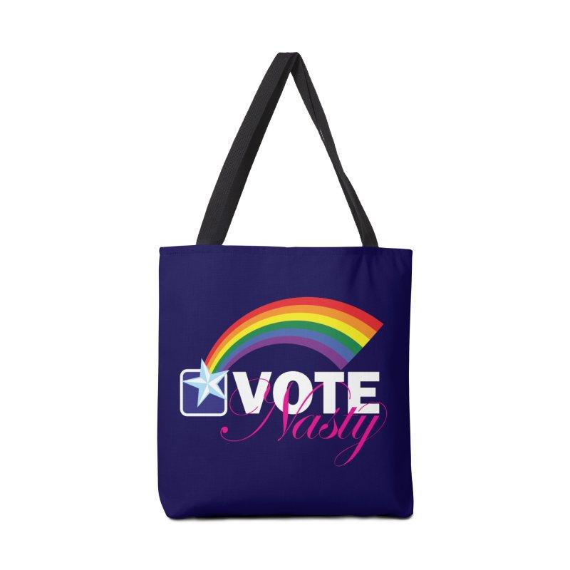 VOTE Nasty LGBTQ reversed Accessories Bag by Peregrinus Creative