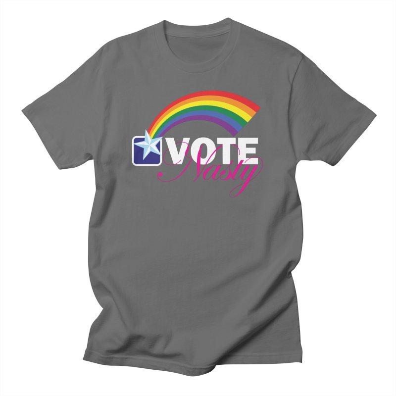 VOTE Nasty LGBTQ reversed Men's T-Shirt by Peregrinus Creative