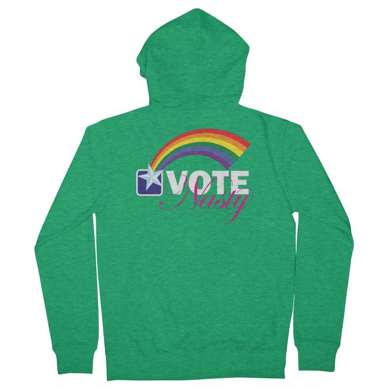 VOTE Nasty LGBTQ reversed Men's Zip-Up Hoody by Peregrinus Creative