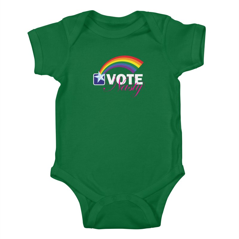 VOTE Nasty LGBTQ reversed Kids Baby Bodysuit by Peregrinus Creative