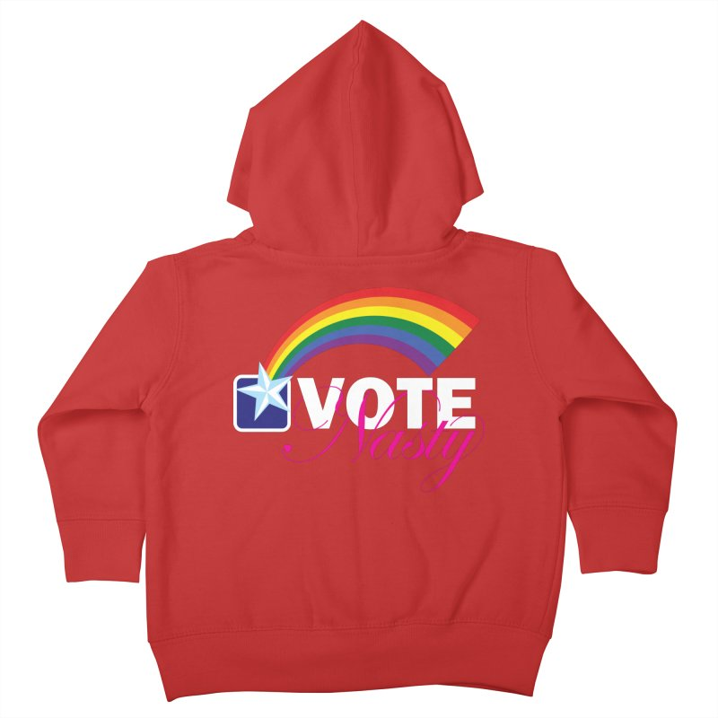 VOTE Nasty LGBTQ reversed Kids Toddler Zip-Up Hoody by Peregrinus Creative