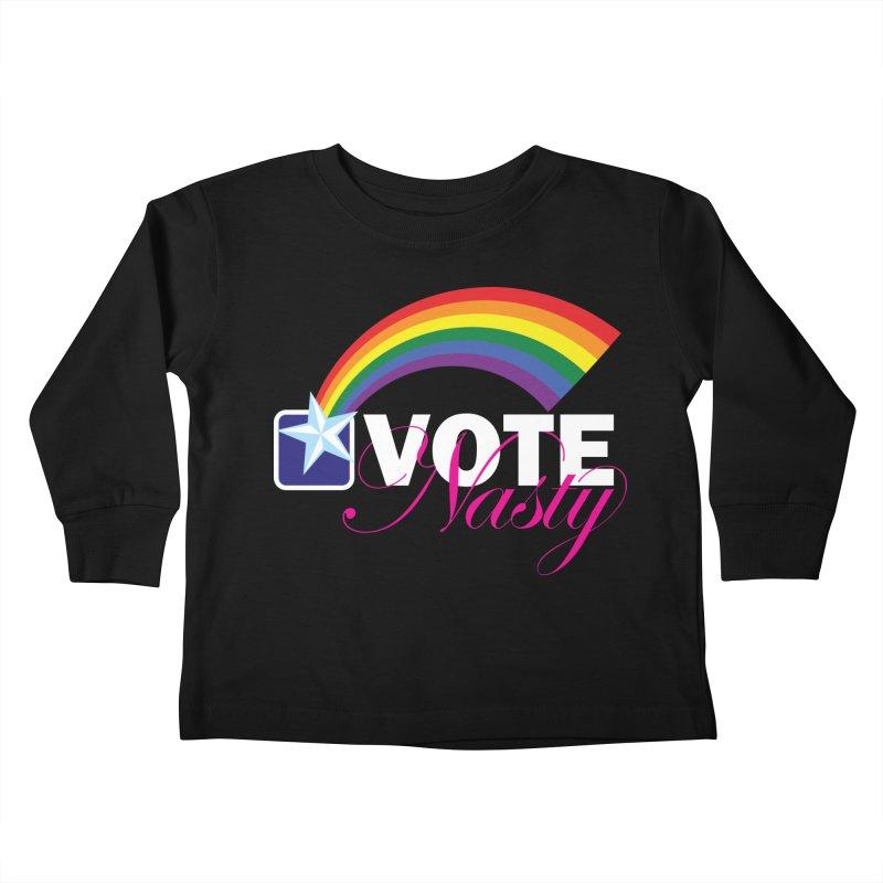 VOTE Nasty LGBTQ reversed Kids Toddler Longsleeve T-Shirt by Peregrinus Creative