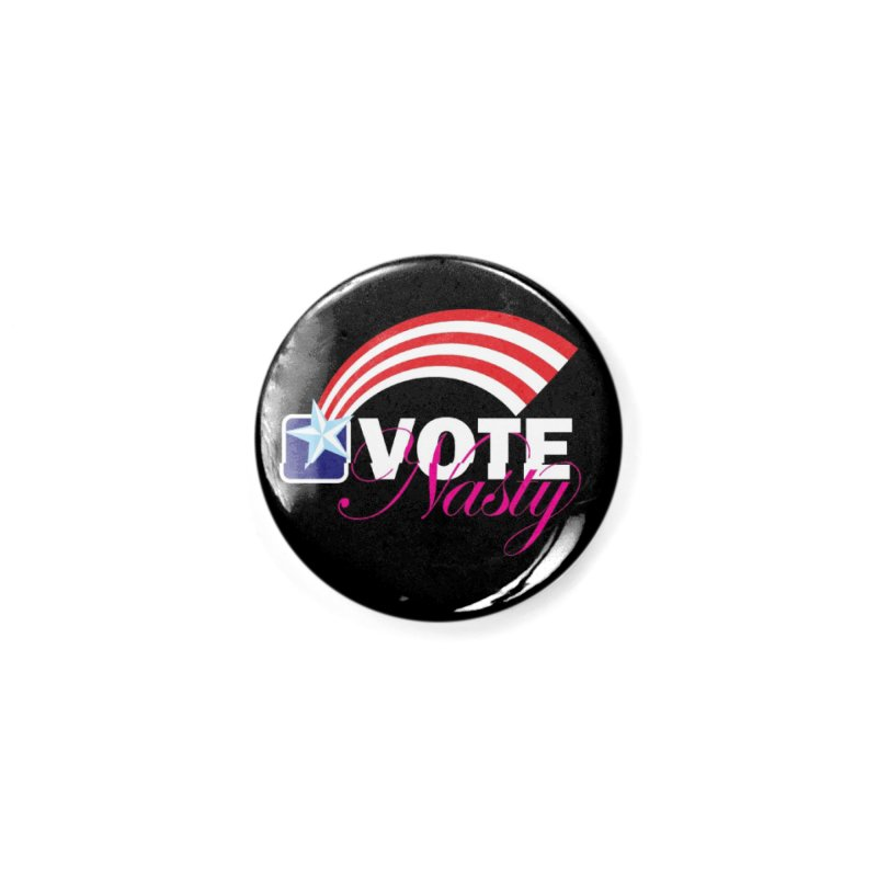 Star Spangled right to VOTE Nasty reversed Accessories Button by Peregrinus Creative