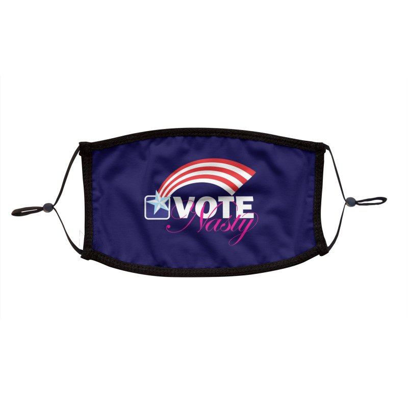Star Spangled right to VOTE Nasty reversed Accessories Face Mask by Peregrinus Creative