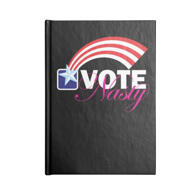 Star Spangled right to VOTE Nasty reversed Accessories Notebook by Peregrinus Creative