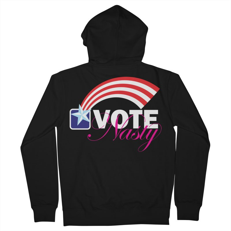 Star Spangled right to VOTE Nasty reversed Women's Zip-Up Hoody by Peregrinus Creative