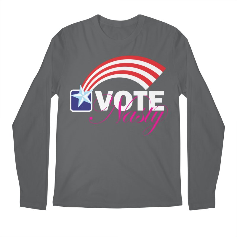 Star Spangled right to VOTE Nasty reversed Men's Longsleeve T-Shirt by Peregrinus Creative
