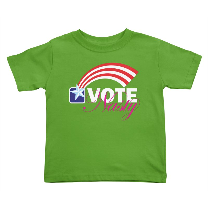 Star Spangled right to VOTE Nasty reversed Kids Toddler T-Shirt by Peregrinus Creative