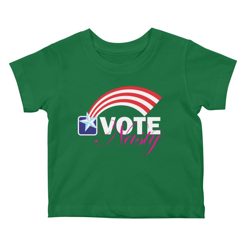 Star Spangled right to VOTE Nasty reversed Kids Baby T-Shirt by Peregrinus Creative