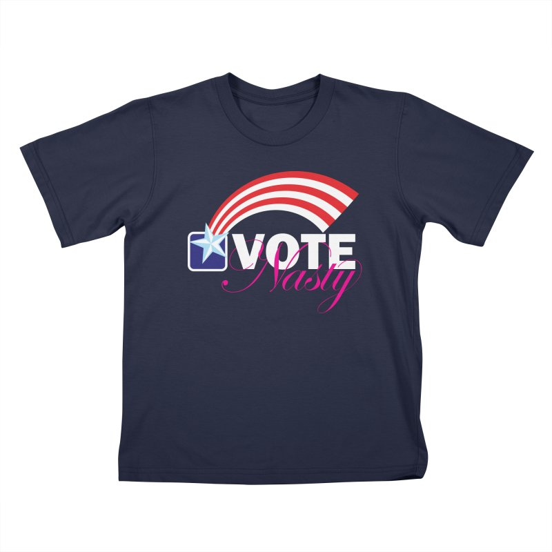 Star Spangled right to VOTE Nasty reversed Kids T-Shirt by Peregrinus Creative