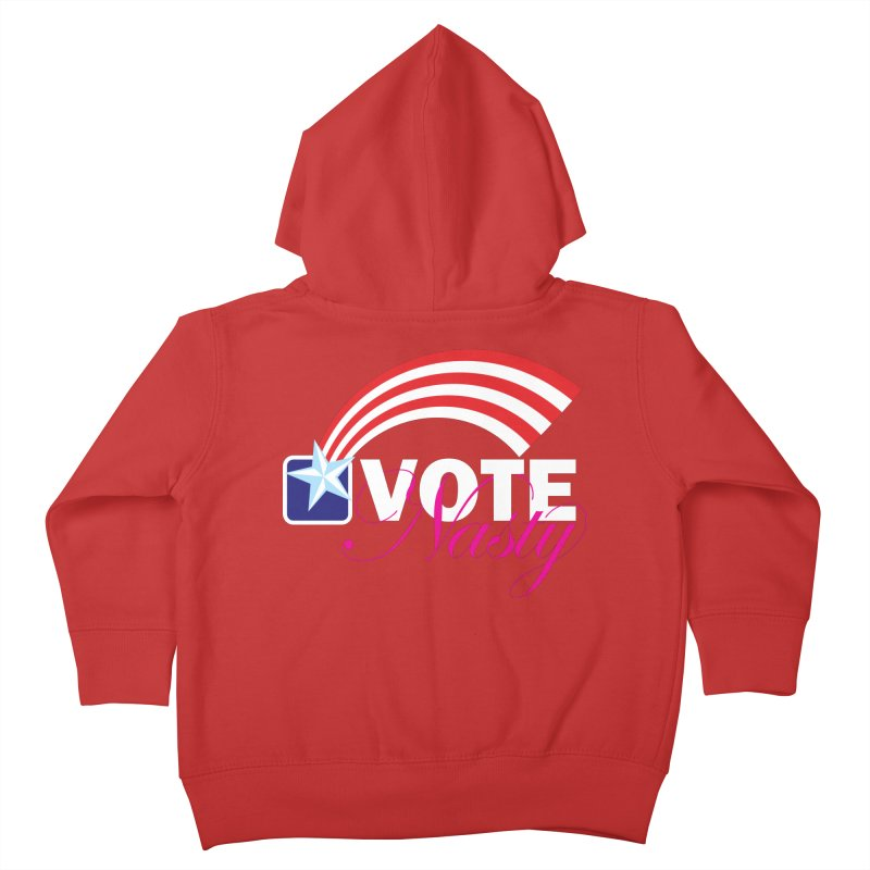 Star Spangled right to VOTE Nasty reversed Kids Toddler Zip-Up Hoody by Peregrinus Creative