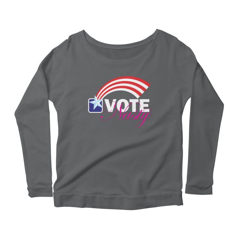 Star Spangled right to VOTE Nasty reversed Women's Longsleeve T-Shirt by Peregrinus Creative